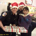 Police Officers play Santa Clause